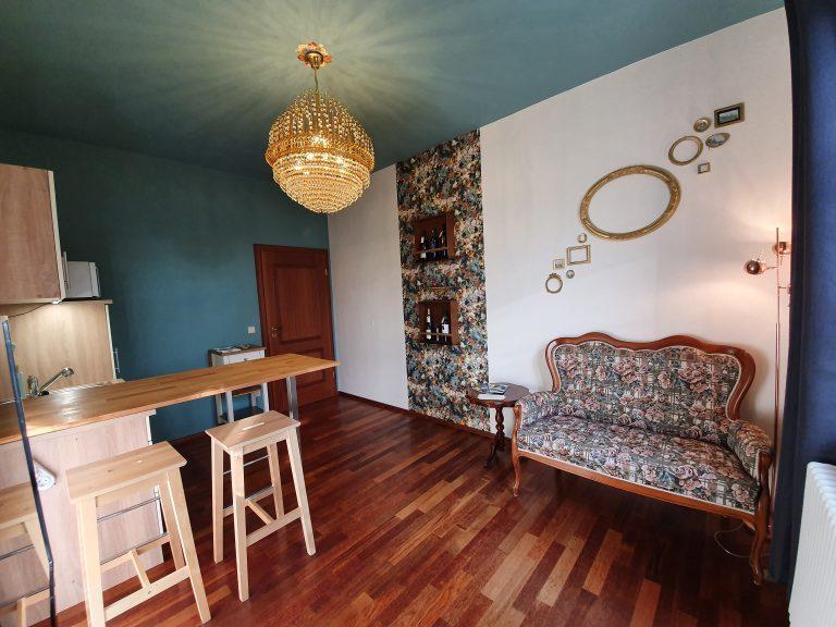 Ferienwohnung Haus Elbling Blick ins Wohnzimmer